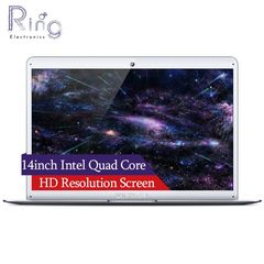 14inch Ultrathin Intel Atom Cherry Trail Quad Core CPU WIFI Bluetooth Narrow Frame New Laptop sliver 2GB RAM 32G ROM