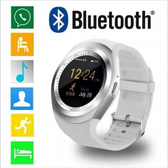 Smart watch Y1 2018 HOT SALE Touch Screen Bluetooth Music Smartwatches TF Smart Phone White one size