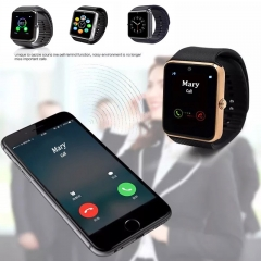 SmartWatch GT08 2018 SIM/TF Bluetooth Smartwatch For Android phone A1 Gold Silver black silver one size