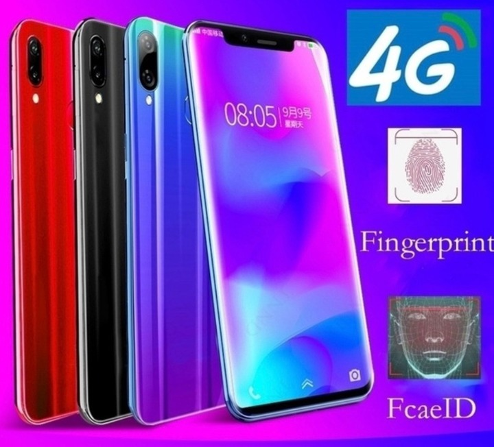 New phone 6.3inch 4G+64G 16MP+8MP 4G LTE Face&Fingerprint unlocking VIVK x20s Dual SIM smartphone red