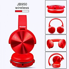 Wired and Wireless Universal Bluetooth Earphones Computer Phone Bluetooth Headset  Pace Headphones red