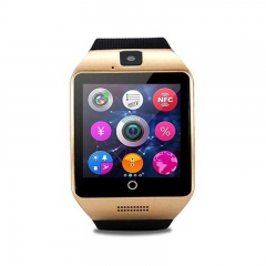 New Curved Screen Smart Watch Internet Bluetooth Camera Sports Phone Watch Black One Size Gold one size