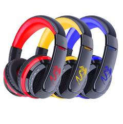 Wireless Bluetooth Stereo Headset Foldable Headphone Earphones for Android Samsung IPhone red