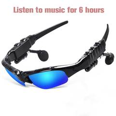 4.1 Bluetooth Stereo Headset Phone Bluetooth Sunglasses For Android iPhone Bluetooth Safty Glasses Blue One Size