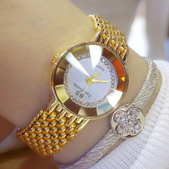 New Deluxe Shiny Jewelry Fashionqueen Women Bling Watches gold one size