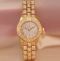Newbrand European Popular Bling Jewelry Ladies Shiny Watches gold one size