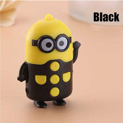 Mini Cartoon Cute Little Yellow Man Mp3 Player black