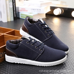8 years of fashion British style men's flat shoes belt casual shoes student retro Martin boots blue 39