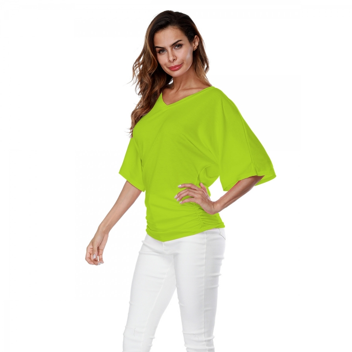 337648b9278 BTD Hot S-5XL Plus size Bat Short Sleeve V-neck Casual Tshirt Women ...