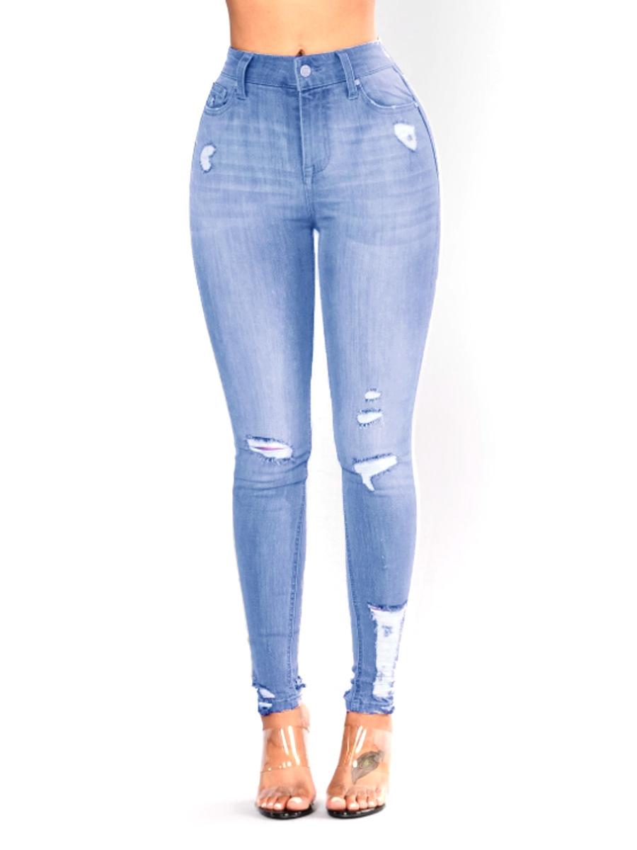 fc23e5cd31900 BTD Plus Size S-3XL Jeans Elastic Long Denim Trousers High Waist Pencil  Legging Women royal blue l  Product No  1968176. Item specifics  Seller  SKU BT-0043 ...