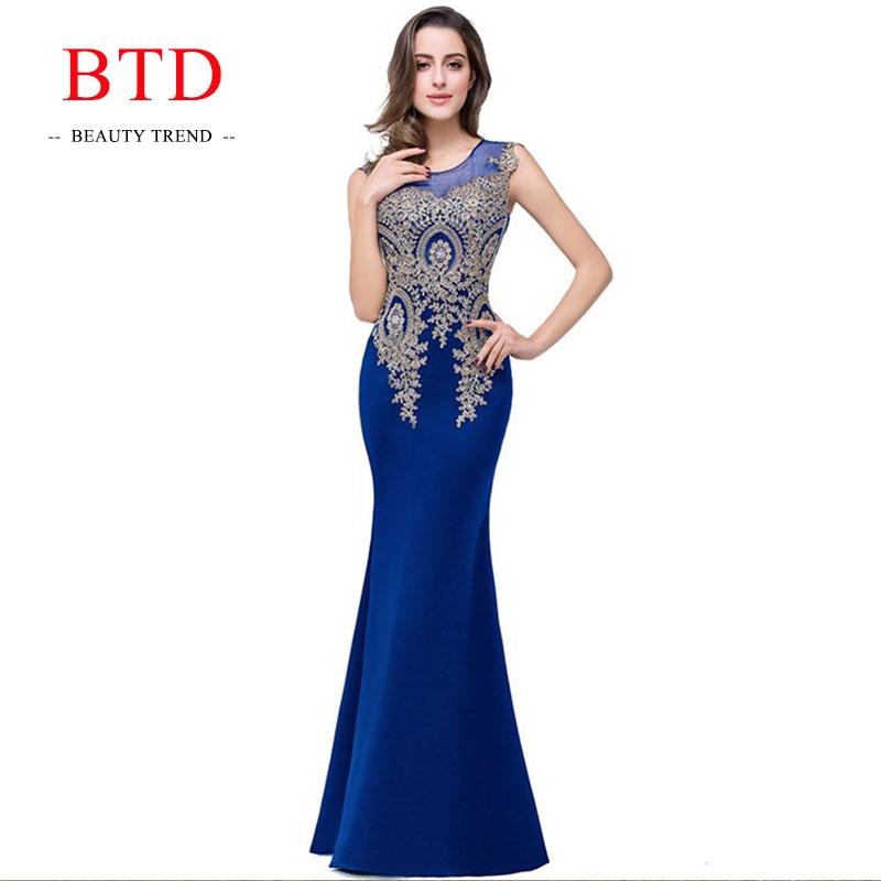 46323e6efb BTD Hot Ladies Evening Party Formal Dresses Net Yarn Wedding Bridesmaid  Maxi Women Dress l blue