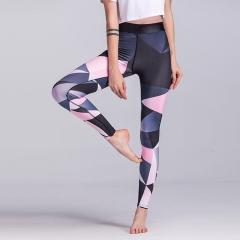Sport Trousers Sport Pants Women Elastic Printed Yoga Pants Yoga Leggings Running Tights One Colour S