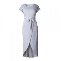 Summer Short Sleeve Bodycon Party Dress Plus Size Sexy Women Long Maxi Boho Dress Elegant Female S White