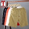 New Arrival Men Shorts Cotton Casual Shorts For Men Elastic Waist Summer Beach Shorts navy blue m
