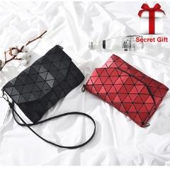 New Fashion Folded Women Handbags Famous Designer Geometric Shoulder Bag Diamond Tote Bags black one size