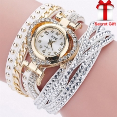 Watch Women Bracelet Ladies Watch With Rhinestones Clock Womens Vintage Fashion Wristwatch Gift white