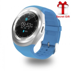 Bluetooth Y1 Smart Watch Relogio Android Smartwatch Phone Call SIM TF Camera blue one size