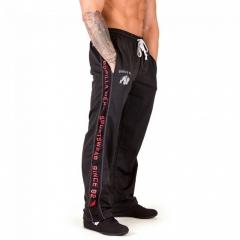 Sweatpants Men's Fashion Casual Thin Pants Male Plus Size Loose Breathable Streetwear Trousers black&white m