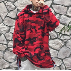 red camouflage hoodie men fashion sweatshirts brand orignal design casual pullover for autumn red m