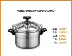 Non-explosive pressure cooker silver 9l