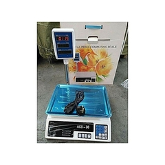 Generic ACS 30 Digital Weighing Scale - Up to 30Kgs silver