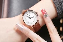 Hot Sell Fashion Simple Watches For Men Women Waterproof Quartz Watch Student Couple Table brown belt for women one size