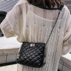 Ladies quality PU leather handbag solid shoulder bag lady messenger wallet and handbag black middle