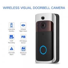 Wireless Doorbell video doorbell wifi doorbell Outdoor HD 720P with  Alert System for Home Security black Doorbell(no battery)