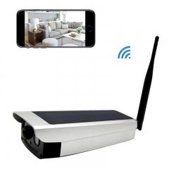 Solar Security Camera Wireless ip camera CCTV 1080P Outdoor  7650mah battery  with 2-Way Audio silver solar camera