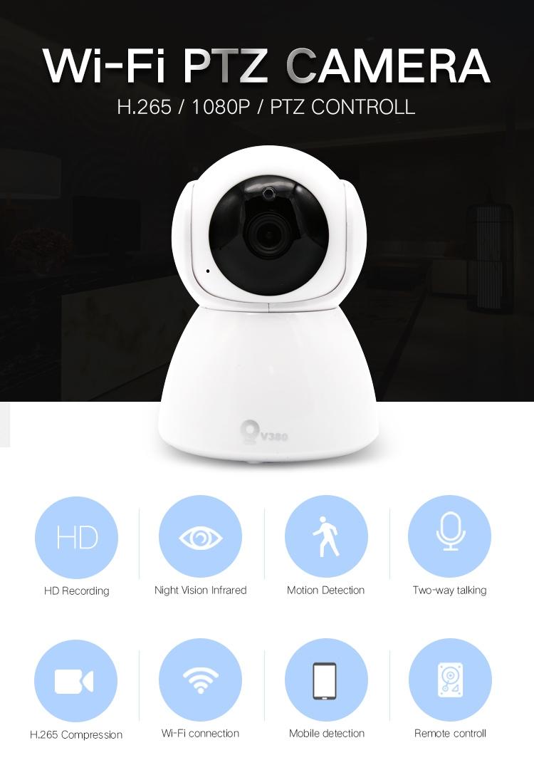 1080P Wireless IP Camera CCTV Security Wifi Webcam Indoor Baby/Pet