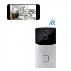 Vesafe Doorbell WIFI Wireless Doorbell  HD Security Camera PIR Motion Detection Night Vision  Video Silver Wireless Doorbell(no battery)