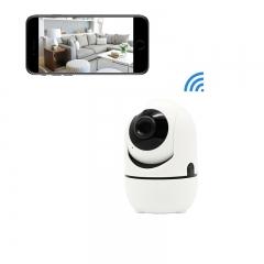 360°Dome WiFi Camera,1080P PIR IP Camera Auto Tracking,Night Vision,Two Way, PIR,IR,Video Play-back white 720P