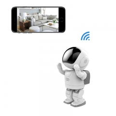 Ip Robot Camera Wireless Home Security P2P IR Night Vision for Mobile Android/IOS white 960p
