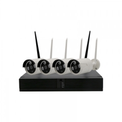 4CH Network POE Video Security System 1080P(NVR Kit) Four 2MP POE Outdoor Bullet IP Cameras white CCTV security system