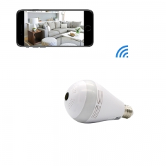 Wireless WiFi IP Panoramic Bulb Camera 360 Degrees Fisheye Lens For Home Security  Camera with light 960P 10cm AC 110V-220V