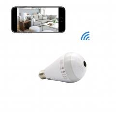WIFI Camera Bulb VR Panoramic Bulb Camera with 360 Degree Fisheye Led Lights Bulb for Home Security 960P 10cm AC 110V-220V