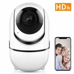 Wireless Security Camera wifi Auto Tracking IP Camera for Home Security Baby/Pet Monitor CCTV camera white 1080p