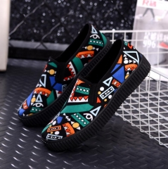 Ladies casual  cavans shoes  For spring autumn Green 40