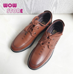 WOW STORE Men Shoes High Quality Business Derby Shoes Men Wedding Shoes Men Dress brown 42 PU