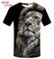 WOW STORE 3DPrint The Lion TShirt Summer New Short Sleeved T-shirt Men's  Half Sleeves Big Size black 5xl cotton