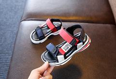 WOW STORE Fashion Light Soft Sole Shoes Non-slip Boys Children Beach Shoes Kids Sandals red 26