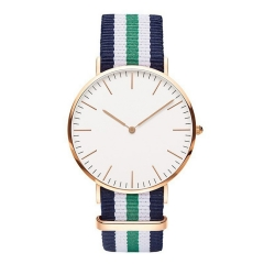 Man Woman Business Fashion Gold super thin quartz Colorful nylon watch RBW 25cm*4cm*0.8cm