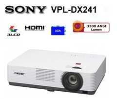 Sony VPL-DX 241 Projector white 23 x 33 x 8