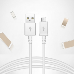 Mobile Phone Charge Cable for USB Fast Data Cable White for Sumsung Xiaomi Huawei Android Tablet white one size