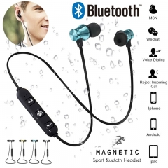 Bluetooth Earphone Headset waterproof sports 4.2 with Charging Cable Young Earphone Build-in Mic silver