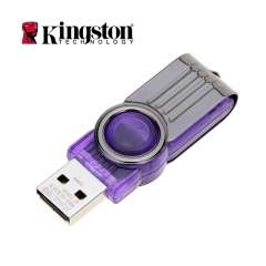 Kingston Original Data Metal High Speed USB 2.0 Rotating USB Flash Drive External Storage Memory purple normal 32gb