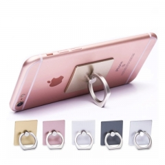 360 Degree Mobile Phone Finger Ring For Smartphone Stand Holder For Square Holder purple one size