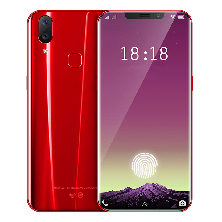 AOLE High-Quality X21 Full-Screen Smart Phone Fingerprint Face Function Unlock 6GB+64GB 4G Network red