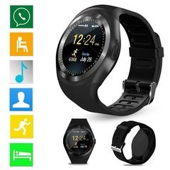 Newest Bluetooth Smart Watch Relogio Android Smartwatch Phone Call Camera SIM Black Y1