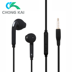 Stereo Music Headphones Portable Earphone Wired In-Ear Headset no bluetooth with Microphone black